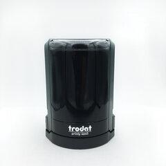 Оснастка для печатей, оттиск D=45 мм, синий, TRODAT 4645, корпус черный, крышка, подушка