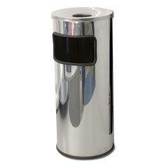 Урна металлическая с пепельницей, 600х250х250 мм, 29 литров, нержавеющая сталь, 250НН