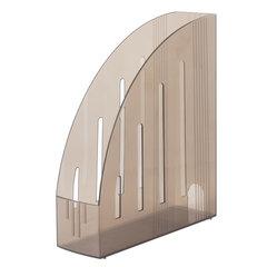 """Лоток вертикальный для бумаг BRAUBERG """"Energy"""" (261х85х300 мм), эргономичная форма, тонированный коричневый, 231550"""