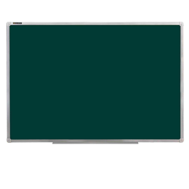 Доска для мела магнитная 90х120 см, зеленая, ГАРАНТИЯ 10 ЛЕТ, РОССИЯ, BRAUBERG, 231706