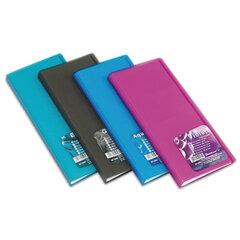 """Визитница трехрядная ERICH KRAUSE """"Vivid colors"""" на 96 визиток, пластиковая обложка, ассорти"""