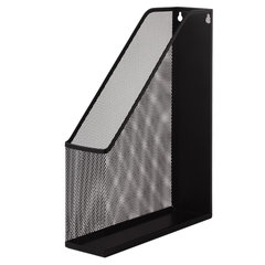 """Лоток вертикальный для бумаг BRAUBERG """"Germanium"""" (250х72х315 мм), металлический, черный, 231948"""