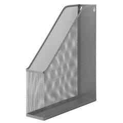 """Лоток вертикальный для бумаг BRAUBERG """"Germanium"""" (250х72х315 мм), металлический, серебряный, 231949"""