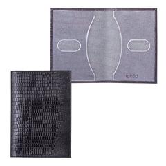 """Обложка для паспорта BEFLER """"Ящерица"""", натуральная кожа, тиснение, черная, О.1-3"""