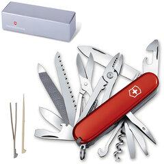 """Подарочный нож VICTORINOX """"Handyman"""", 91 мм, складной, красный, 24 функции"""