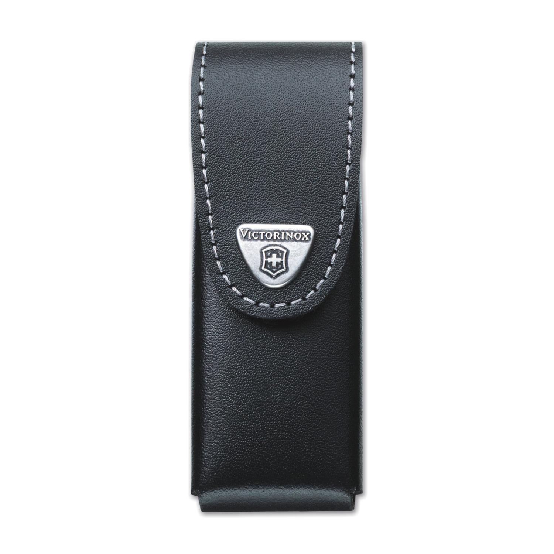 Подарочный чехол для ножей VICTORINOX, кожа, черный, на липучке, 0.87../0.89.., до 6 уровней