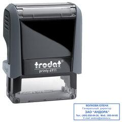 Оснастка для штампа, размер оттиска 38х14 мм, синий, TRODAT 4911 P4, подушка в комплекте