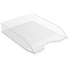 "Лоток горизонтальный для бумаг СТАММ ""Дельта"", А4 (315х250х60 мм), прозрачный, ЛТ652"