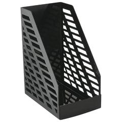 """Лоток вертикальный для бумаг, увеличенная ширина (250х160х300 мм), СТАММ """"XXL"""", полипропилен, черный, ОФ333"""