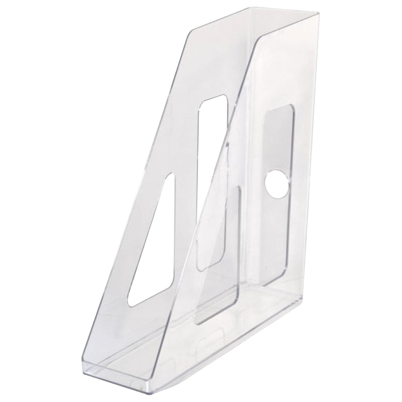 "Лоток вертикальный для бумаг СТАММ ""Актив"" (253х70х250 мм), прозрачный, ЛТ512"