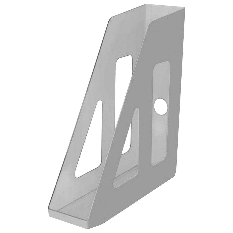 "Лоток вертикальный для бумаг СТАММ ""Актив"" (253х70х250 мм), серый, ЛТ510"