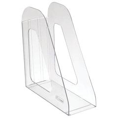 "Лоток вертикальный для бумаг СТАММ ""Фаворит"" (235х240 мм), ширина 90 мм, прозрачный, ЛТ701"