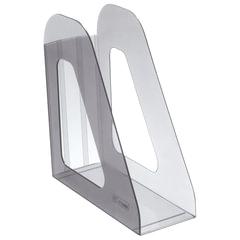 """Лоток вертикальный для бумаг СТАММ """"Фаворит"""" (235х240 мм), ширина 90 мм, тонированный серый, ЛТ703"""