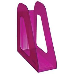 """Лоток вертикальный для бумаг СТАММ """"Фаворит"""" (235х240 мм), ширина 90 мм, тонированный фиолетовый, ЛТ709"""