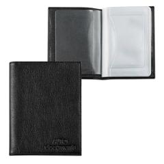 """Бумажник водителя BEFLER """"Грейд"""", натуральная кожа, тиснение, 6 пластиковых карманов, черный"""