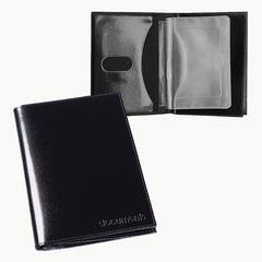 """Бумажник водителя BEFLER """"Classic"""", натуральная кожа, тиснение, 6 пластиковых карманов, черный"""