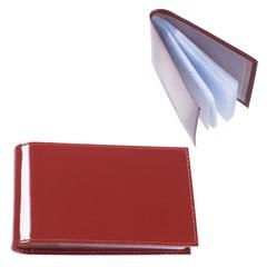 """Визитница карманная BEFLER """"Classic"""" на 40 визиток, натуральная кожа, коньяк"""