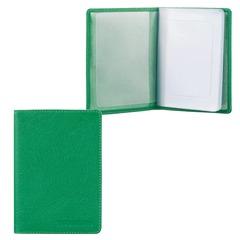 """Бумажник водителя FABULA """"Every day"""", натуральная кожа, тиснение, 6 пластиковых карманов, зеленый"""