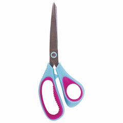 """Ножницы BRAUBERG """"Extra"""", 190 мм, ассиметричные, ребристые резиновые вставки, бирюзово-фиолетовые, 236452"""