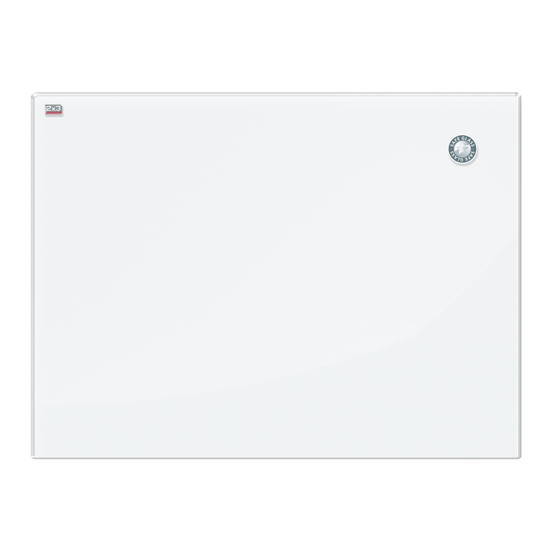 Доска магнитно-маркерная стеклянная 60x80 см, БЕЛАЯ, 2х3 OFFICE, (Польша), TSZ86 W