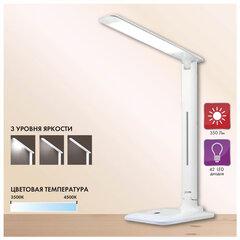 Светильник настольный SONNEN BR-889, на подставке, светодиодный, 8 Вт, белый, 236662