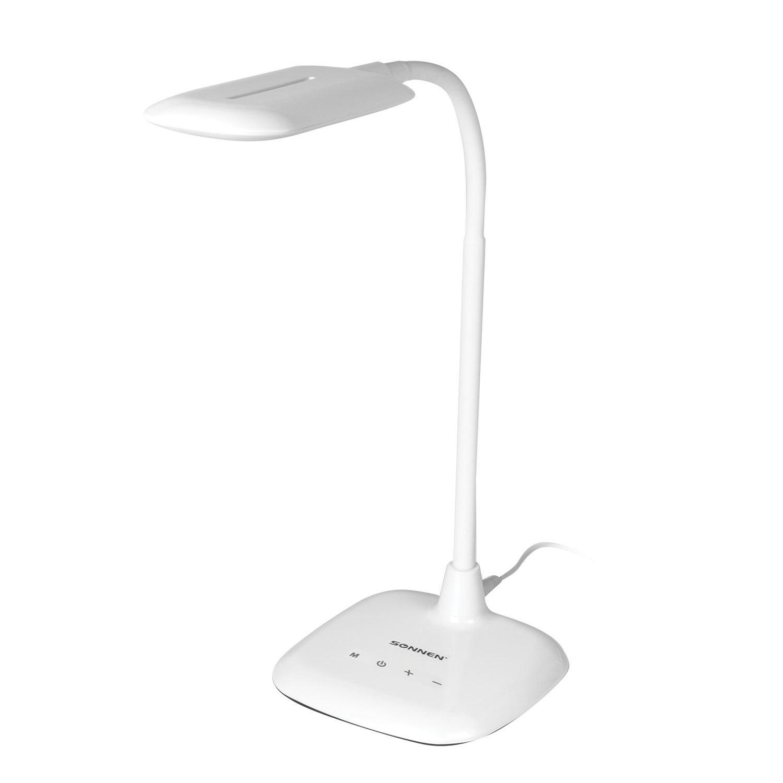 Светильник настольный SONNEN BR-819A, на подставке, светодиодный, 8 Вт, белый, 236666