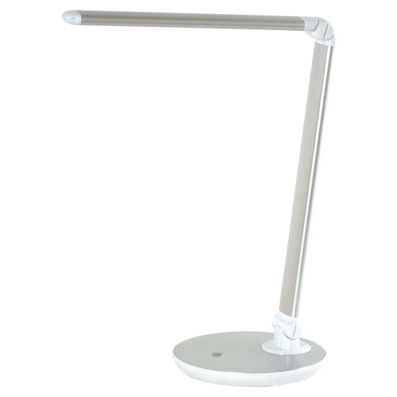 Светильник настольный SONNEN PH-3609, на подставке, светодиодный, 9 Вт, металлический корпус, серый, 236688
