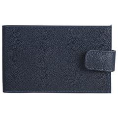 """Визитница карманная BEFLER """"Грейд"""", на 40 визиток, натуральная кожа, на кнопке, синяя"""