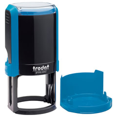 Оснастка для печати, оттиск D=42 мм, синий, TRODAT 4642 PRINTY 4.0, крышка, подушка