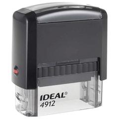 Оснастка для штампа, размер оттиска 47х18 мм, синий, TRODAT IDEAL 4912 P2, подушка в комплекте