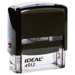 Оснастка для штампа, размер оттиска 58х22 мм, синий, TRODAT IDEAL 4913 P2, подушка в комплекте