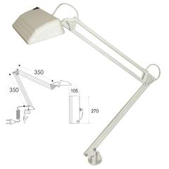 """Светильник настольный """"Дельта П-С32"""", на струбцине, светодиодный, 12 Вт, белый, высота 60 см"""