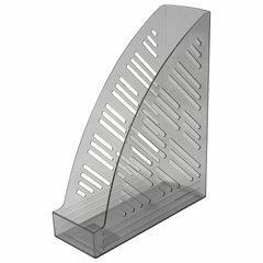 "Лоток вертикальный для бумаг BRAUBERG ""Standard+"", 250х90х300 мм, тонированный серый, 237226"