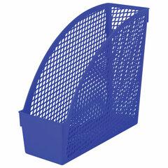 """Лоток вертикальный для бумаг STAFF """"Profit"""", 270х100х250 мм, сетчатый, полипропилен, синий, 237250"""