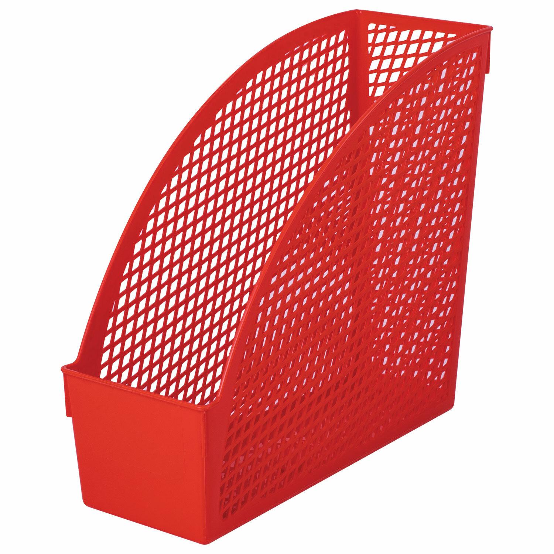 """Лоток вертикальный для бумаг STAFF """"Profit"""", 270х100х250 мм, сетчатый, полипропилен, красный, 237251"""