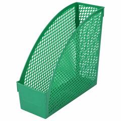 """Лоток вертикальный для бумаг STAFF """"Profit"""", 270х100х250 мм, сетчатый, полипропилен, зеленый, 237254"""