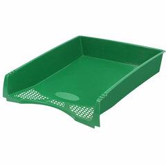 """Лоток горизонтальный для бумаг STAFF """"Profit"""", A4 (330х260х60 мм), полипропилен, зеленый, 237273"""