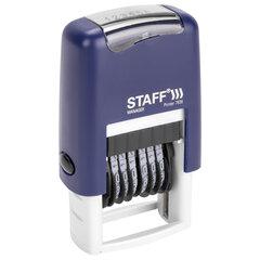 """Нумератор 6-разрядный STAFF, оттиск 22х4 мм, """"Printer 7836"""", 237434"""