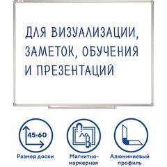 Доска магнитно-маркерная 45х60 см, алюминиевая рамка, Польша, STAFF Profit, 237720