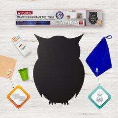 """Доска на холодильник магнитно-меловая 30х40 см """"Baby Owl"""" с набором аксессуаров, BRAUBERG, 237842"""