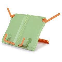 Подставка для книг ЮНЛАНДИЯ, регулируемый наклон, прочный ABC-пластик, светло-зеленая, 237898