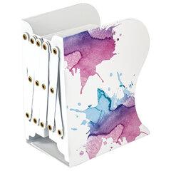 Подставка-держатель для книг и учебников BRAUBERG, раздвижная, металлическая, белая с печатью, 237903