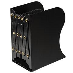 Подставка-держатель для книг и учебников BRAUBERG, раздвижная, металлическая, черная, 237904