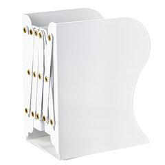 Подставка-держатель для книг и учебников BRAUBERG, раздвижная, металлическая, белая, 237905