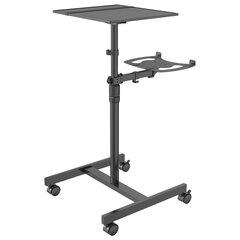 Стол для проектора CACTUS (100х37х42 см), регулировка высоты и наклона, площ.для ноутбука, CS-VM-PT01T