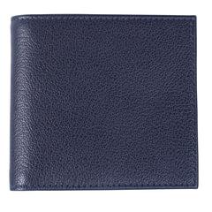 """Портмоне мужское BEFLER """"Грейд"""", натуральная кожа, на кнопке, 125х95 мм, синее"""