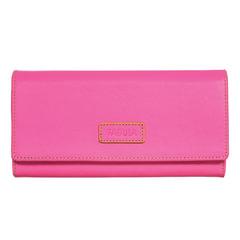 """Портмоне женское FABULA """"Ultra"""", натуральная кожа, кнопка, 95х192 мм, розовое"""