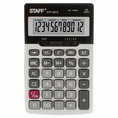 Калькулятор настольный металлический STAFF STF-2312 (175х107 мм), 12 разрядов, двойное питание, 250135