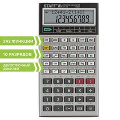 Калькулятор инженерный двухстрочный STAFF STF-169 (143х78 мм), 242 функции, 10+2 разрядов, 250138