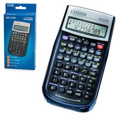 Калькулятор инженерный CITIZEN SR-270N (154х80 мм), 236 функций, 10+2 разряда, питание от батарейки, сертифицирован для ЕГЭ